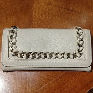 Charlotte Russe leather wallet, light cream